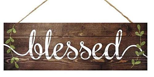 Blessed Sign Wreath Sign Wreath Center Wreath Supplies Craft Supplies Farmhouse Sign Wreath Blank Blessed Wreath Sign Blessed Decor Bedroom Wood Sign with Sayings Home Decor