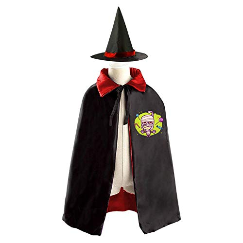 69PF-1 Halloween Cape Matching Witch Hat Little Zombie