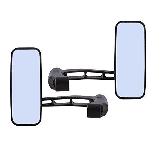 Autofy Universal Bar Design Mounting Side Mirror Set for All Bikes (Black, Set of 2)