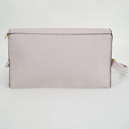 Grey Portfolio Envelope Felice Handbag Ladies Pattern Oversize Clutch Evening Fashionista Crocodile Leather BxaqpPO