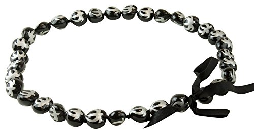 Painted Kukui Nuts - Barbra Collection Hawaiian Style Kukui Nut Lei Hand Painted Silver Turtle 32 Inches (Silver Turtle)