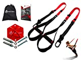 INTENT SPORTS Complete Bodyweight Fitness Resistance Trainer KIT plus Intent Mount. Use Almost Anywhere. Professional Quality, for Home Gym. Pro Straps, Durable Mount. Build Lean Muscle, Core Strength