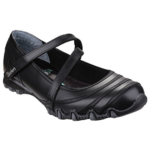Bikers Damen Schuhe Satin Skechers Damen Schwarz 99999849 Shine Casual UHwnaxqE
