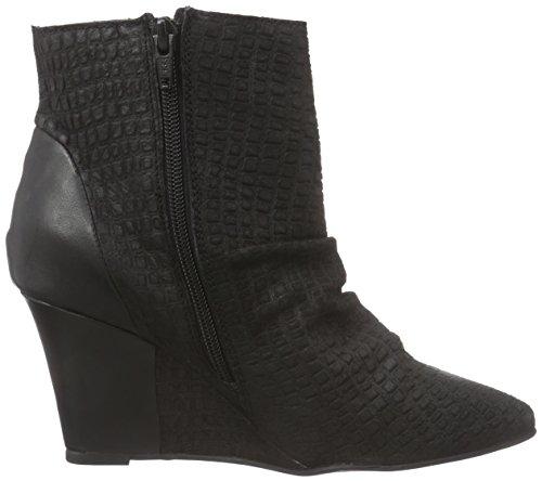 Black Lily Mika Wedges Damen Kurzschaft Stiefel Schwarz (Black)
