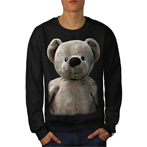 wellcoda Teddy Bear Cute Animal Men Sweatshirt Teddy Bear Adult Sweatshirt