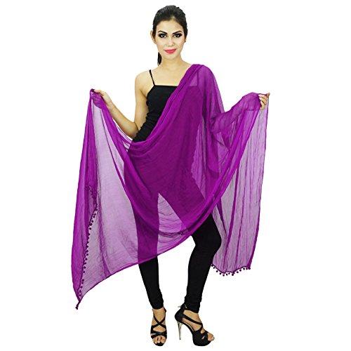 Blend Dupatta Chunni Bufandas Flying Mujeres Purple Longueues Chiffon Entourage 47qd6PP