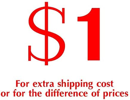 add Money for price difference or shipping fee