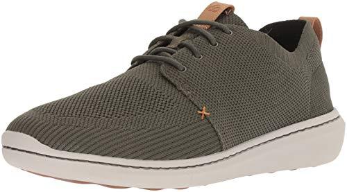 CLARKS Men's Step Urban Mix Sneaker Khaki Textile Knit 085 M ()