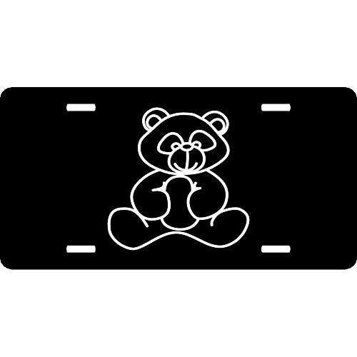 - URCustomPro Cute Teddy Bear Humor Funny License Plate Cover Aluminum Metal for US Vehicles, Car Tag Decoration for Women/Men, 12 x 6 Inch