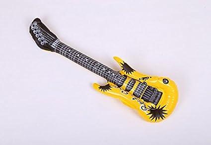 HeyBro - Guitarra hinchable de PVC, 4 unidades, para niños ...