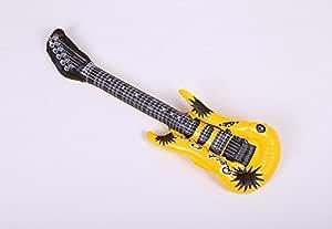 HeyBro - Guitarra hinchable de PVC, 4 unidades, para niños, color ...