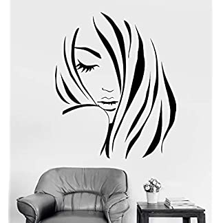 lyclff Fashion Girl Silhouette Wall Stickers Camera Home Decor Bellezza Hair Salon Parrucchiere Vinyl Wall Decal Sticker Barbershop 42 * 51cm