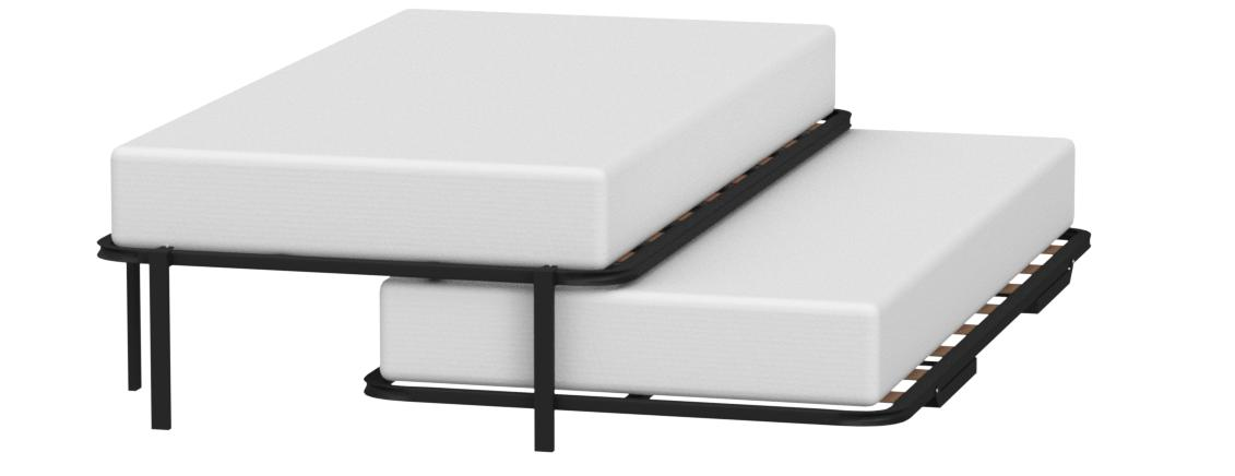 Hogar 24 Cama Nido con 2 Somieres Estructura Reforzada Doble, Acero, 80x190 cm