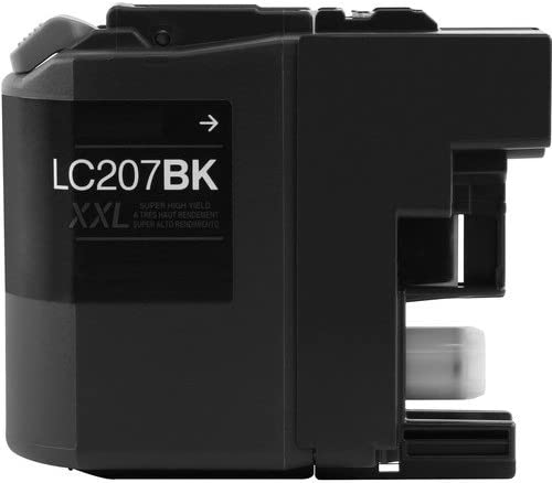 Extra High Yield; Black Ink: CLC207BK Replacement for Brother LC207BK; Models: MFC J4320DW J4420DW J4620DW MG Compatible Inkjet Cartridges