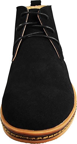 Via Farinella Heren Classic Chukka Desert Boots Zwart