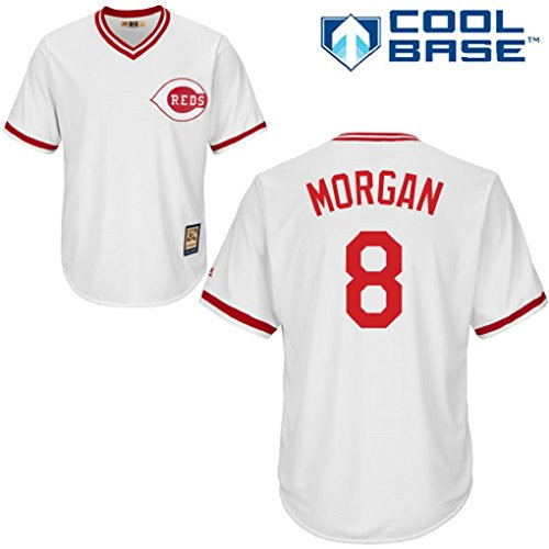 Joe Morgan #8 Cincinnati Reds MLB Youth Cool Base Cooperstown Jersey (Youth Medium 10/12) (Cooperstown Red Player)