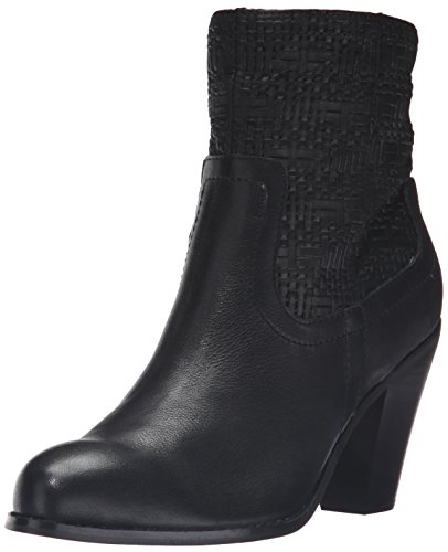 Corso Como Womens Harvest Ankle Bootie Black Tumbled/Woven Leather