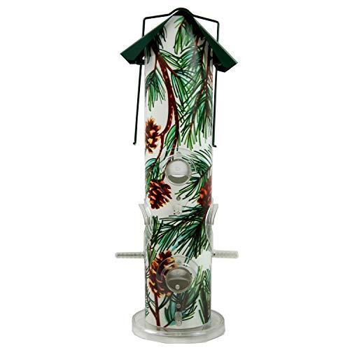 (Perky-Pet 684008 391Pine Pine Metal Tube Wild Bird Feeder, Green)