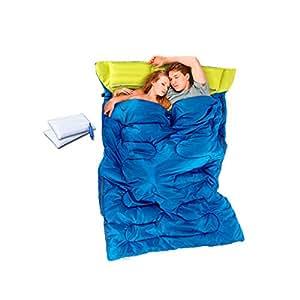 8haowenju Saco de Dormir Doble, Pareja al Aire Libre Escalada Saco de Dormir para Acampar