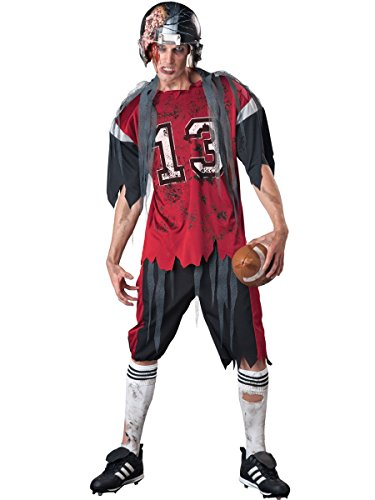 InCharacter Costumes Men's Dead Zone Zombie Footbal Costume, Red/Grey, X-Large
