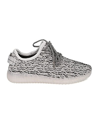 Similpelle Donna Alrisco Light Up Jogger A Pagamento - Casual, Party, Festival - Sneaker Leggero A Led - Gf44 By Grey