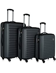Revelation! Dominica 3-Piece Expandable Upright Hardside Spinner Luggage Set: 31, 27, and 22