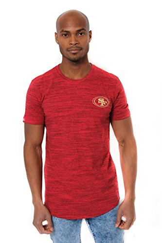 ICER Brands Men's T Active Basic Space Dye Tee Shirt, Team Color, Res, -