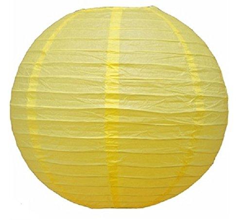 GloMania Lemon Yellow Hanging Paper Lantern- 12in