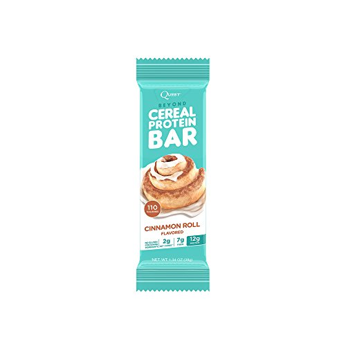 Quest Nutrition Beyond Cereal Protein Bar  Cinnamon Roll Flavor  12G Protein  2G Net Carbs  110 Cals  1 34Oz Bar  15 Count  Breakfast Bars  Low Carbs Bars  Gluten Free  Soy Free