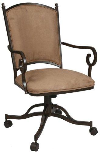 Pastel Furniture AT-160-AR-628 Atrium Caster Chair, Autumn Rust and Topanga Brown - Pastel Atrium
