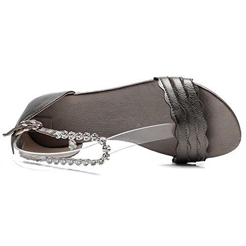 Coolcept Women Open Toe Sandals Flats Champagne-13 ZRAypJzL