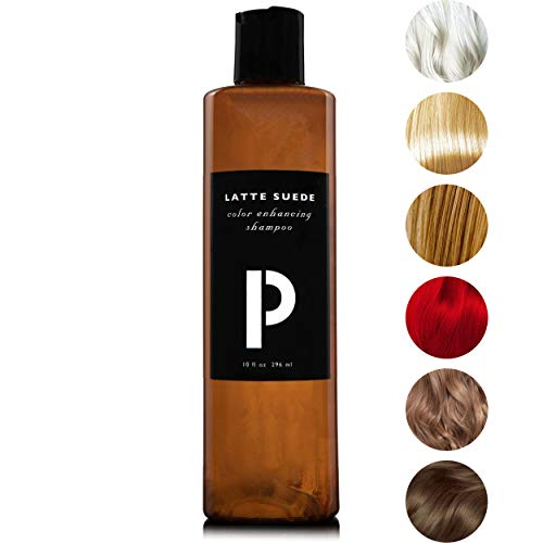 ProColor Shampoo for Color Treated Hair 10oz | Toner Locks and Enhances Color - Protect, Cleanse, and Purify Blonde, Red, and Dyed Hair - Moisturizing Shampoo for Soft Smooth Hair (Latte Suede)