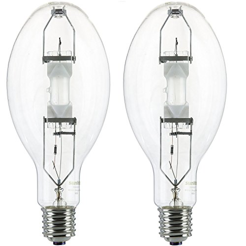 Sunlite MH400/U/MOG 400-Watt Metal Halide ED37 Bulb, Mogul Base, Clear (400 Watts 2 Pack) Bulb Ed37 Mogul Base