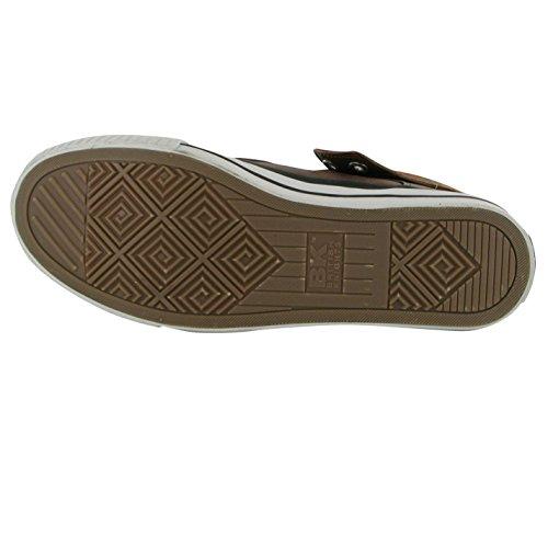 British Knights ROCO Fold Trainer Herren Schwarz/Kastanie Casual Sneakers Schuhe