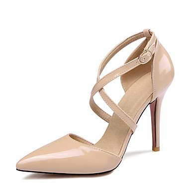 LvYuan Mujer-Tacón Stiletto-Zapatos del club-Sandalias-Boda Vestido Fiesta y Noche-Cuero Patentado-Negro Amarillo Rosa Blanco Beige Black