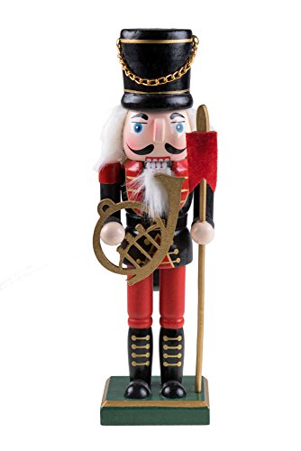 Traditional Nutcracker by Clever Creations | Military Uniform, French Horn and Pike | Classic Christmas Decor | 10