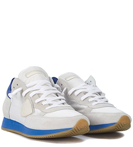 Philippe Model Sneakers Tropez in Wildleder Beige und Textil Weiß