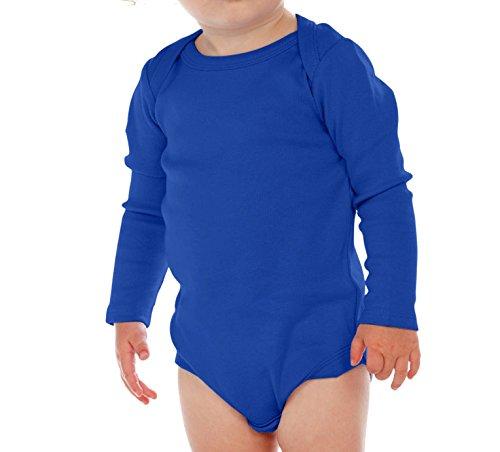 Kavio! Unisex Infants Lap Shoulder Long Sleeve Onesie Cobalt Blue 24M