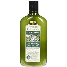 Avalon Organics Volumizing Conditioner, Rosemary, 11 oz (Quantity of 4)