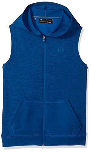 (Under Armour Boys' Storm SF Hoodie Vest, Moroccan Blue (487)/Moroccan Blue, Youth Medium)