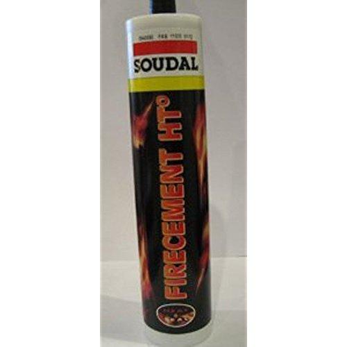 Soudal - Mastic refractaire resistant au feu firecement ht° - Coloris.Gris anthracite