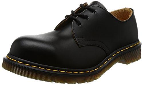 Steel Toe Oxford Boot - Dr. Martens Original 3 Eye Steel Toe Gibson,Black Fine Haircell,6 UK (US Men's 7 M/Women's 8 M)