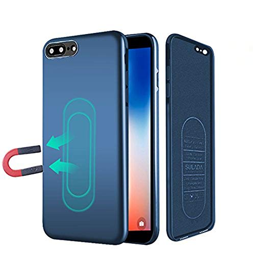 Case iPhone 6/6s,Ultra Thin Magnetic Phone Case for Magnet Car Phone Holder with Invisible Built-in Metal Plate,Soft TPU Shockproof Anti-Scratch Protective Cover for iPhone 6/6s 4.7[Blue]