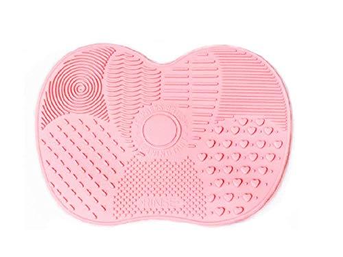 Makeup Express Brush Silicone Cleaner Mat Portable Brush Washing Cleaner Pad Washing Tool (S, Pink)