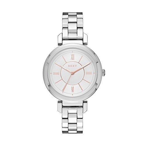 DKNY Women's 'Ellington' Quartz and Stainless-Steel-Plated Casual Watch, Color:Silver-Toned (Model: NY2582)