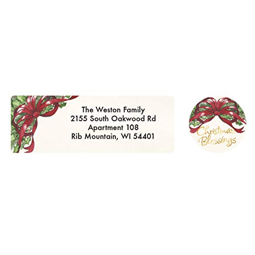 Personalized Christmas Blessings Address Labels & Seals ()