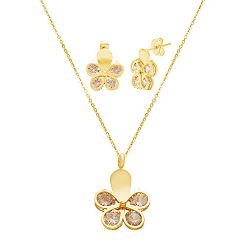 gold-tone-stainless-steel-champagne-crystal-butterfly-18-cable-chain-necklace-and-earring-gift-set