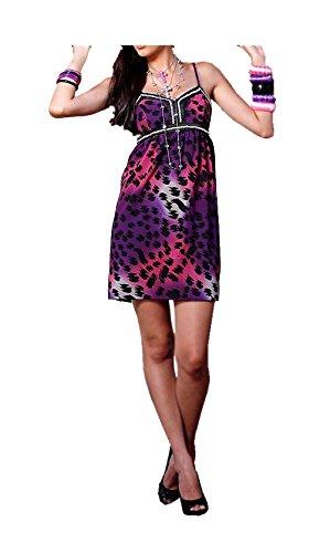 Melrose - Vestido - Opaco - para mujer pink-lila-schwarz