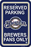 MILWAUKEE BREWERS 12 X18 RESERVED PARKING SIGN
