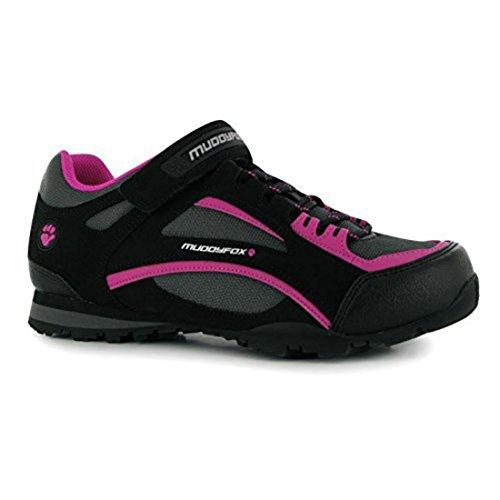 Radsportschuhe TOUR100 Schuhe Muddyfox Fahrradschuhe Radschuhe Sport Damen Low Pink Char Black qZwFXSf